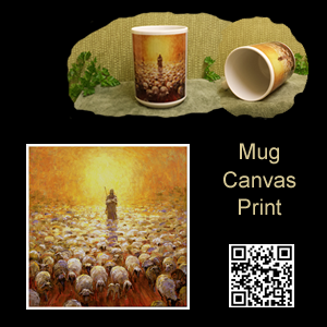 Christian Art Mug Canvas